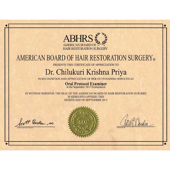 ABHRS Certified Doctor